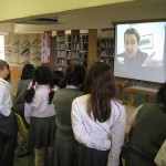 Skype Visit - Marist Brothers in Kobe - sort of like being the Wizard of Oz...