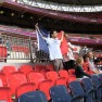 A French fan at Wembley